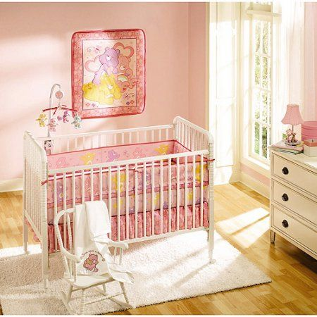 Care Bears 4 Piece Crib Bedding Set Pink