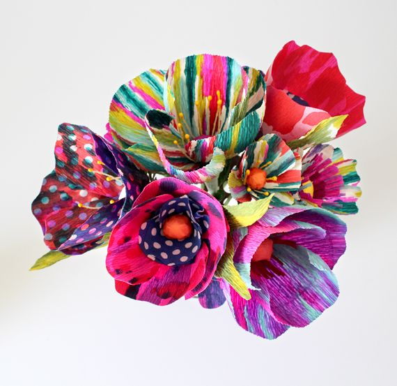 Our alcohol ink technique to make - Tie Dye Paper Flowers. Great tutorial by Shastablasta.