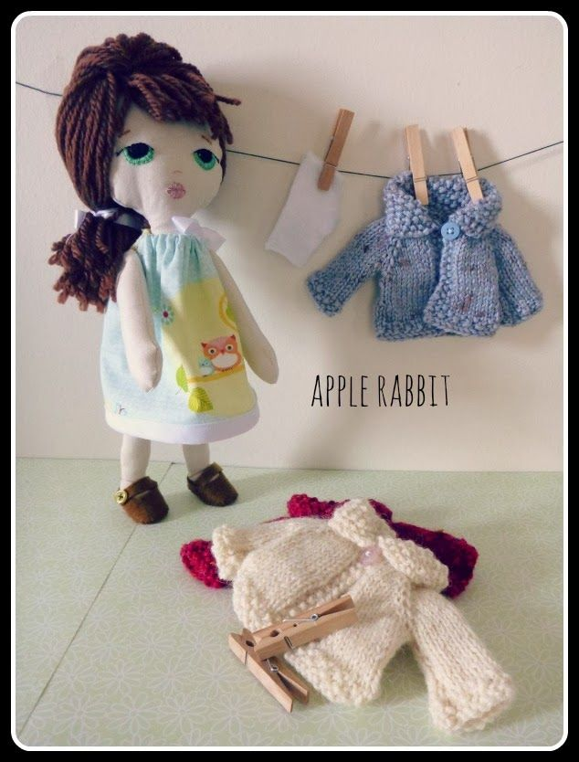 Little Lady plush Doll and her washing Pattern by Gingermelon
