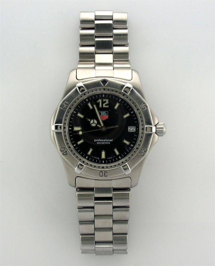 TAG Heuer Professional Diver 200M Black Dial Watch WK1110 ...