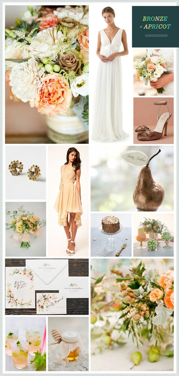 Bronze + Apricot Wedding Inspiration