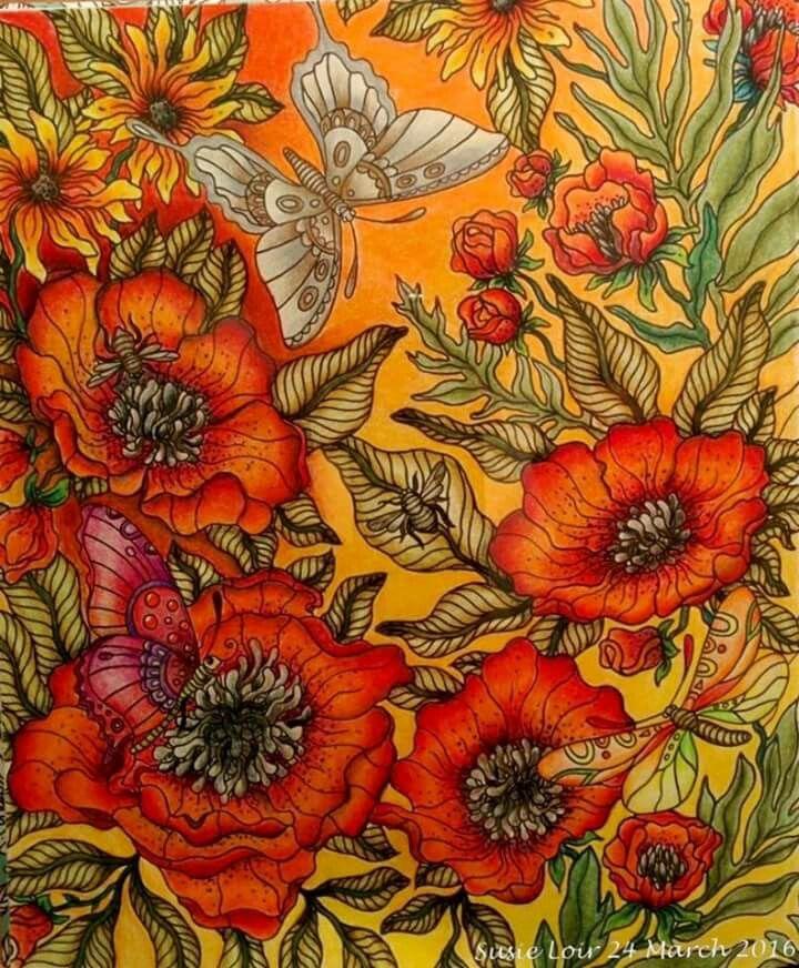 Butterfly Flowers Adult ColoringColoring BooksColouring PencilsSummer NightsRitaDragonfliesWatercolourButterfliesTarget