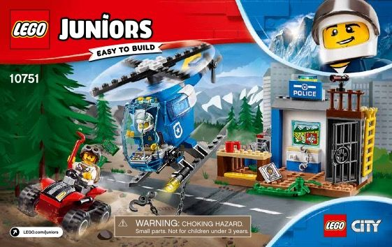 Lego Mountain Police Chase Instructions 10751 Junior Lego Juniors Lego Junior Sets Lego