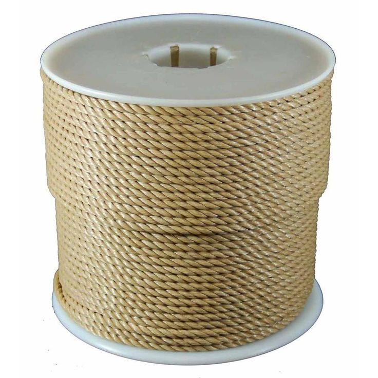 T W Evans Cordage 1 4 In X 600 Ft Twisted Polypro Rope In Brown 43710 The Home Depot In 2020 Manila Rope Mildew Resistant Twist