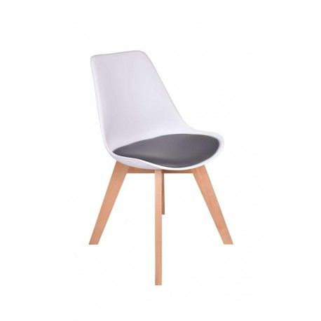 Krzesło Nantes Biało-szare