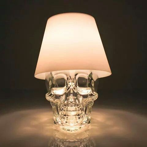 I love the idea of turning a Crystal Skulk vodka bottle into a lamp.. but I think I would try to use a bare bulb somehow.. so it looks like the skull had an idea