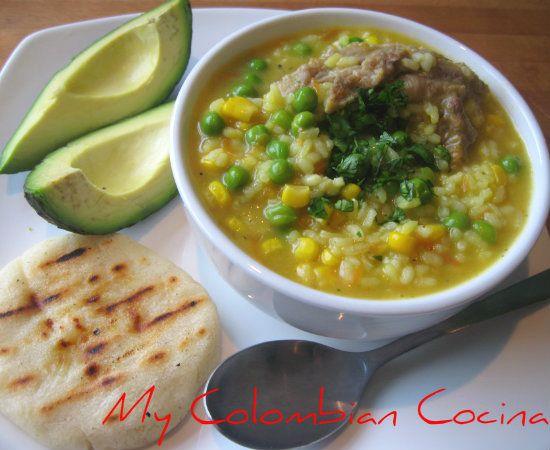 Sopa de Arroz Colombia, cocina, receta, recipe, colombian, comida.
