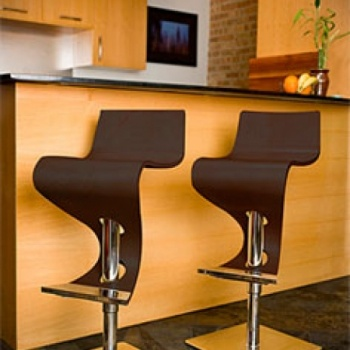 Lumisource VIVA   Modern Design Bar Stool W Wavy Seat Price: $249.99