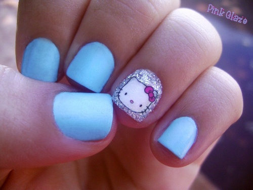69 best hello kitty nail art images on pinterest hello kitty sweet hello kitty nails hello kitty nail designs to discover the inner girl in you prinsesfo Images