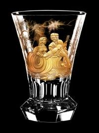   Aida hand made Vase Crystal Glass Bohemia