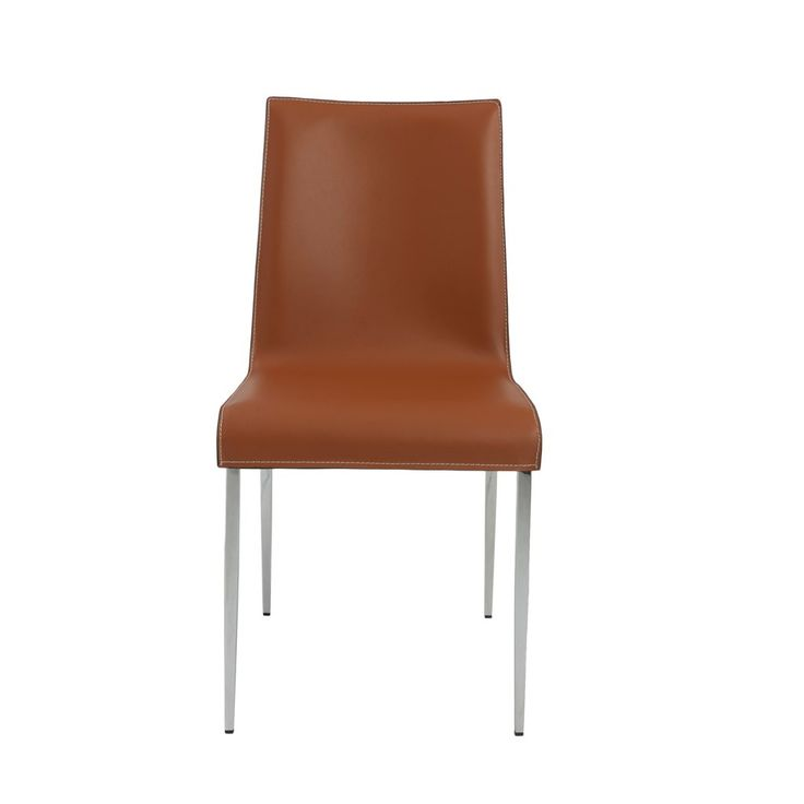 The Busby Dining Chair is a variation on a modern classic. The real leather seats and backs offer up a sense of elegant luxury. The chromed steel legs and footrests make them as strong as they are contemporary.