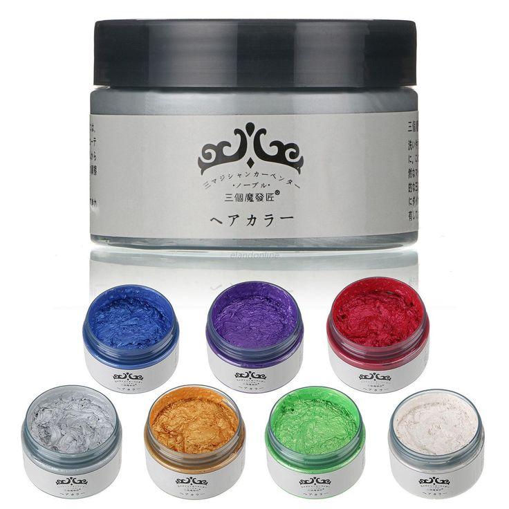 Diy Paste Hair Style Styling Hair Color Wax Dye Dye Wax Harajuku Onetime Molding