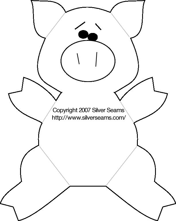 pig template for preschoolers - felt pig pattern silver seams diy pinterest