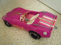 Barbies pink corvette - this one is way cooler than the one I had...
