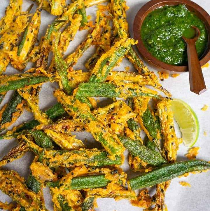Crispy Fried Okra in 2020 (With images) Recipes, Air