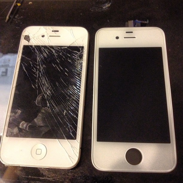 Before And After White IPhone Screen Repair