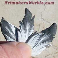 Eagle Feather polymer clay cane