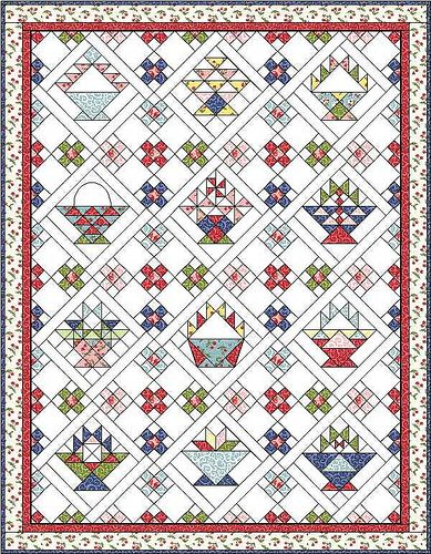 Free quilt blocks on blog for multiple baskets. Quilt 2 by Piecemeal Quilts, via Flickr