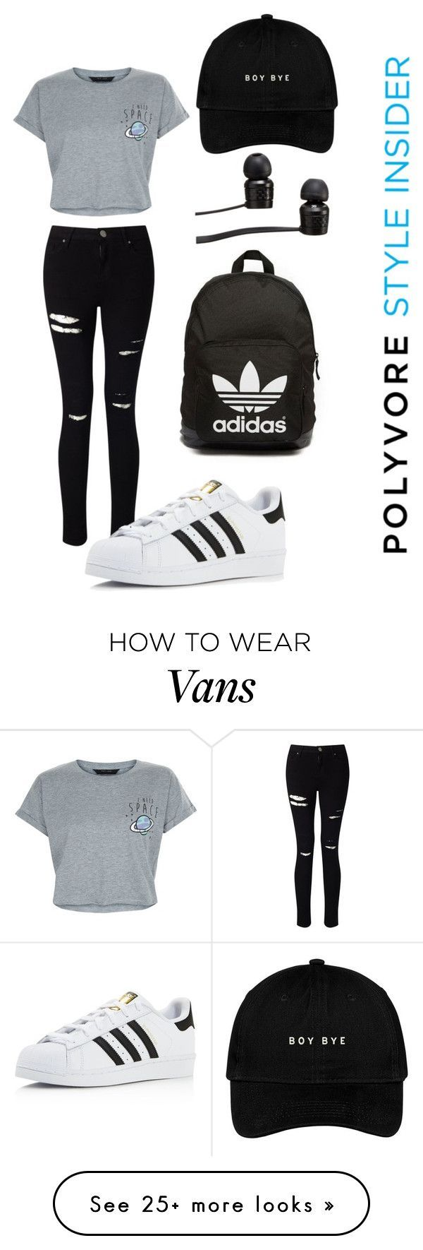 Back to school by champangebitch on Polyvore featuring New Look, Miss Selfridge, adidas, Vans and adidas Originals