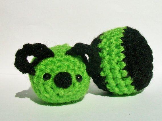 Organic Catnip mouse/ stuffed crochet mice and by erasemydreams24, $3.25