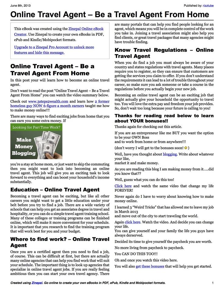25+ melhores ideias de Online travel agent no Pinterest Agência - online travel agent sample resume