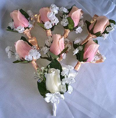 Wedding boutonnieres 8 pcs by Weddingcraftlife on Etsy