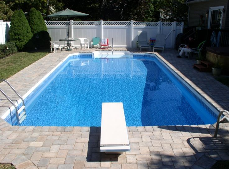 25 best ideas about rectangle above ground pool on for Above ground pool decks brisbane