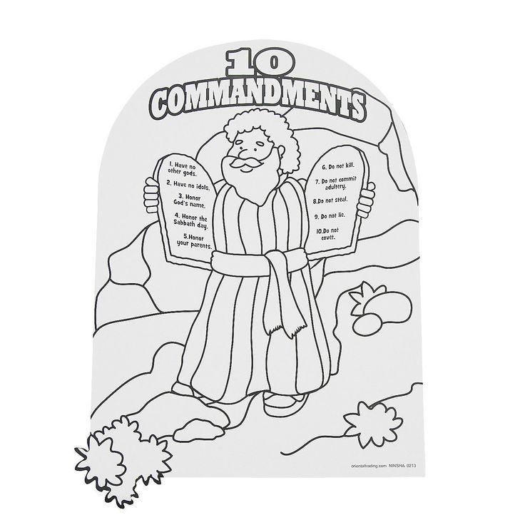 Moses Ten Commandments Coloring