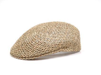Ascot Cap handmade of 100% natural sea grass with cotton sweatband. 