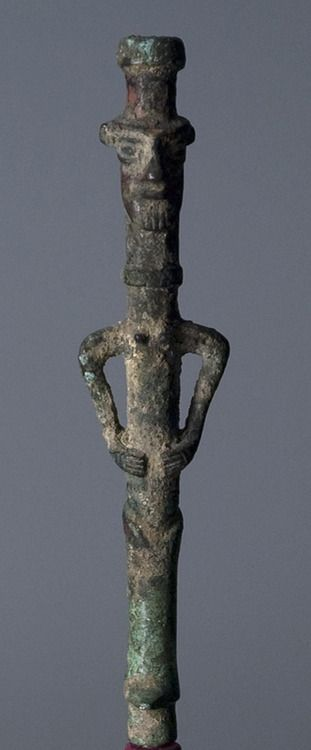Unknown, Iranian  Goddess Finial, 799 BCE - 700 BCE Iranian Metalwork, made in Luristan Bronze  Memorial Art Gallery: Luristan Bronze, Archaeology, 799 Bce, Bronze Metalworking, Bce Bronze, 700 Bceiranian, Iranian Goddesses, Goddesses Finial, Bce Iranian