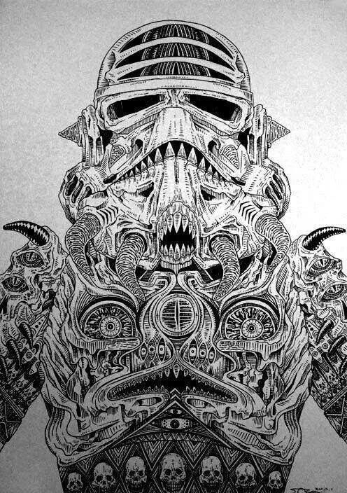 Iphone 5 Stormtrooper Wallpaper Rare Demonic Stormtrooper And Boba Fett Sketches Star