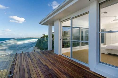 Beach view from upstairs balcony