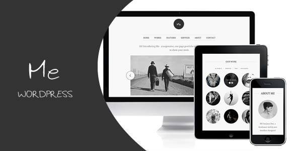 """Me - OnePage Portfolio   http://themeforest.net/item/me-onepage-portfolio/2203296?ref=damiamio      Me – responsive portfolio theme for WordPress!  Hi there! This is the wordpress version of the five start rated html template called """"Me"""". It designed and built with user experience in mind! It is an easy-to-use wordpress theme with detailed documentation, and tutorial videos. If you need a website to showcase your work, just buy Me:)  Fully compatible with WordPress 3.8!   Features   Online…"""