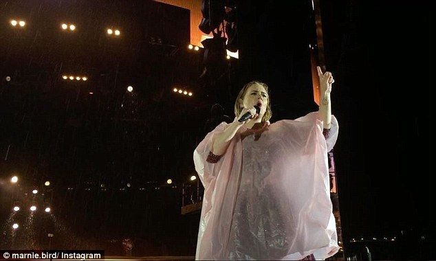 One last time:The Auckland date marked the last tour stop for Adele until June when she heads back home to London for a series of final gigs