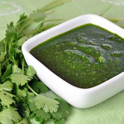 Rick Bayless' Mexican Chimichurri Sauce -smear it on chicken before grilling, stir it into scrambled eggs, or add it to salad dressings.: Chimichurri Sauce, Olive Oils, Mexicans, Salad Dressing, Cup Olive, Cream Sauces, Mexican Chimichurri, Chief