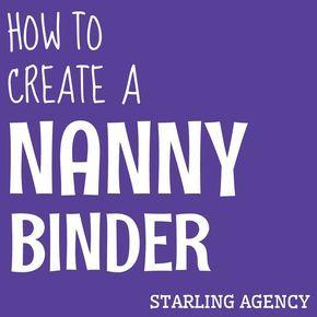 best 25 nanny binder ideas on pinterest babysitting jobs near me summer nanny jobs and. Black Bedroom Furniture Sets. Home Design Ideas
