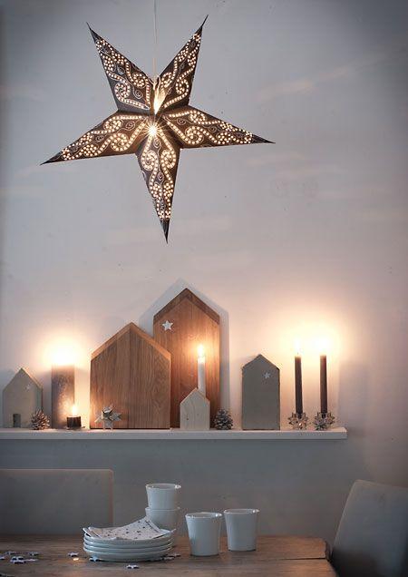 wunderschön-gemacht: weihnachtsstadt unter`m Sternenhimmel Wäre schön, wenn eine Leiste über dem Sofa ist.