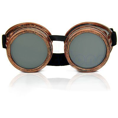 Vintage-Victorian-Steampunk-Goggles-Welding-Punk-Glasses-Gothic-Cosplay-Black
