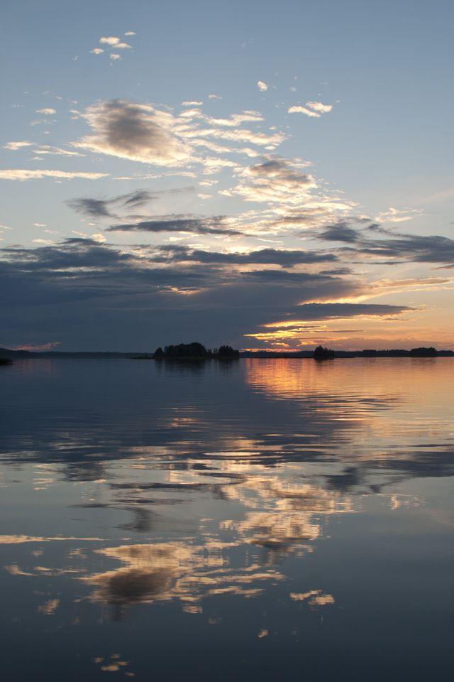 At lake Saimaa, Finland