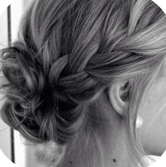 French plait & bun
