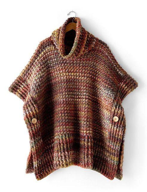 Galería: Ponchos tejidos para Hombres! | CTejidas [Crochet y Dos Agujas]