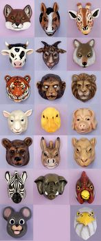 @Andra Rabb, here are masks to go with that picnic theme if we want. For kids or adults too.    Plastic Animal Mask