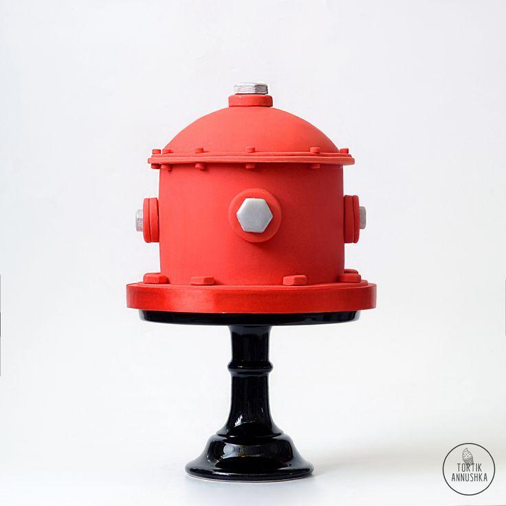 Пожарный кран торт № 1532 на заказ в Москве