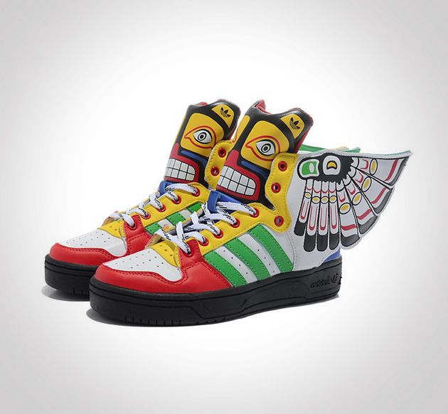 Authentic Adidas X Jeremy Scott Wings Totem Shoes Basketball Shoes Store