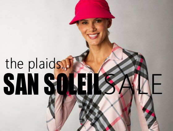 san-soleil sale, sun protection golf clothing sale, going on now- the ladies pro shop