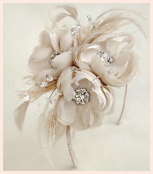 bride hair with flowers | Blush flower wedding hair accessories - UK wedding blog - My Wedding ...