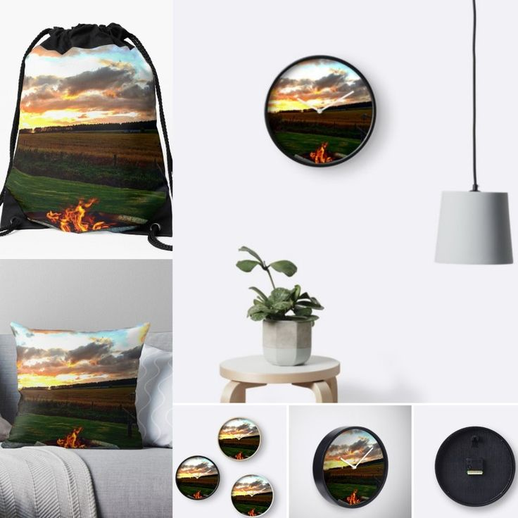 In the light of the fire is my new collection avalible on redbubble Clocks are £20😉 Pillows are £14.99😁 So take a look at the online store, many more collections avalible!!✔✔💜