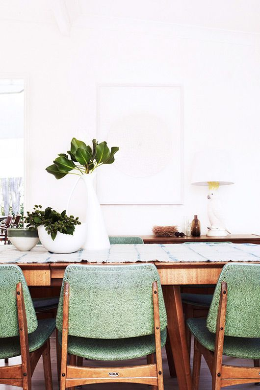 mid-century goes modern. - sfgirlbybay, Exact style of my chairs which I love.
