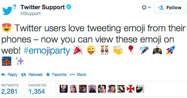 Twitter now shows emoji characters on the web | #Twitter #emojiparty #emoji