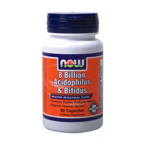 NOW Acidophilus Bifidus 8 Billion 60caps | Familypharmacy.gr